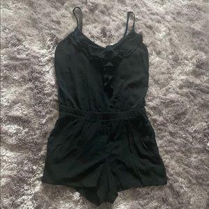 Forever 21 cute & lightweight black shorts romper